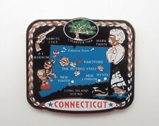 Connecticut Brass Magnet State Landmarks