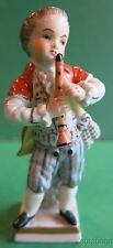 Sitzendorf Dresden Figurine Boy Playing Flute
