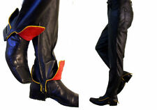 BDSM bondage pant LEATHER jean PUNK shoe boot spat 32 31 red steam gothic biker