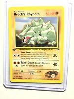 BROCK'S RHYHORN - 1st Edition Gym Heroes  - 22/132 - Rare - Pokemon - NM