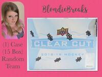 2018-19 UD Clear Cut 15 Box Full Case Break Random Team #202001 Blondie Breaks
