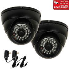 2x Security Camera Outdoor IR Day Night Wide Angle w/ Sony Effio CCD 600TVL bwi