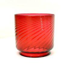 VICTORIAN ANTIQUE CRANBERRY SWIRL GLASS OIL GAS LAMP LIGHT SHADE