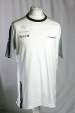 McLaren Mercedes Formula 1 Jenson Button Hugo Boss Mobil 1 White Shirt XXL VGC!
