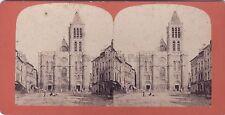 Basilique Saint-Denis Photographie Vagneur Stéréo Vintage albumine ca 1875