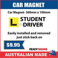 L STUDENT DRIVER - Car Magnet 300mm x 100mm - Australian Made