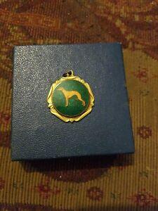 Vintage Enamel Greyhound Medal