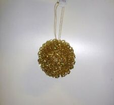 12 New Gold Spiral 80mm Baubles Christmas Tree Ornament Decorations Bargain