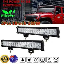 2X18inch LED Work Light Bar 180W Driving Fog Offroad SUV ATV Truck Jeep Car 108