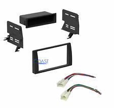 Single Double DIN Stereo Install Dash Kit w/harness for 2002-2006 Toyota Camry