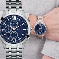 Guess  Uhr Herrenuhr W0875G1 Hudson Multifunktion IP Silber neu