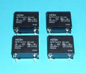 Relais 12V 25A 250V PCB Universel Lampes Moteur Kompressor Qualité Etc. 4 Pièce