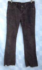 1969 GAP JEANS FRINGE HEM LIMITED EDITION BROWN CORDUROY PANTS Women's 2 Regular