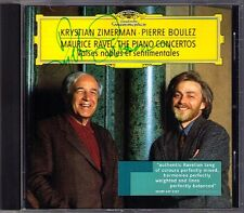 Krystian ZIMERMAN Signed RAVEL Piano Concerto PIERRE BOULEZ DG CD Klavierkonzert