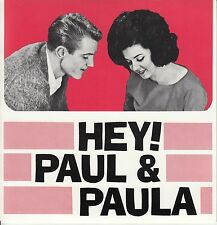 PAUL & PAULA Hey Paula, Young Lovers, Flipped Over You EP PIC SLEEVE NEW RARE!
