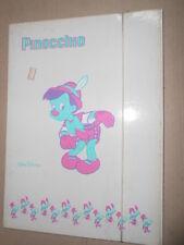 Pinocchio Walt Disney Carpetta Elastico SCHOOL FOLDER Vintage