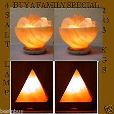 Himalayan SALT LAMP Rock Crystal  4pcs Unique Ionizer