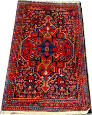 An Old Primitive Persian Seneh Rug