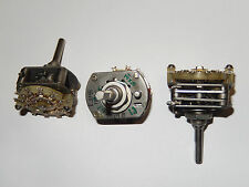 PG-3 Rotary Switch 2pole 5pos (PG3-5P2NV). New. Set of 4.