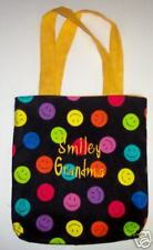 PERSONALIZED Tote Book Bag - Smiley Faces!!!  great for the kids!