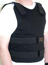 Concealable Civilian Bulletproof Vest Body Armor Protection Level 3A Siz L Black