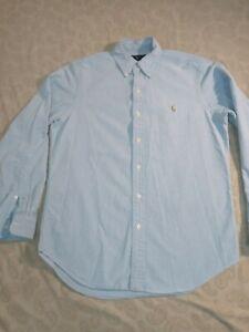 Polo Ralph Lauren Men's Classic Fit long Sleeve Shirt Blue Size Medium