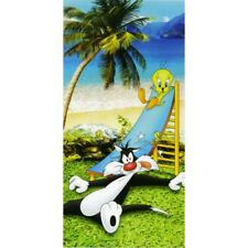 Serviette de Plage Bébé Bassetti Kids Warner Bros Sbang Titi et Sylvester 76x152