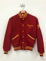 1977 Womens Vintage Butwin Letterman Varsity Cheerleader Jacket - Red - Size 38