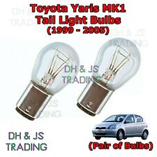 Toyota Yaris Tail Light Bulbs Pair of Rear Tail Light Bulb Lights MK1 (99-05)