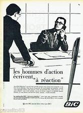 PUBLICITE ADVERTISING 125  1960  Bic  stylo bille clic