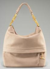 CHRISTIAN LOUBOUTIN Marianne Beige Nude Front Pocket Leather Hobo Shoulder Bag
