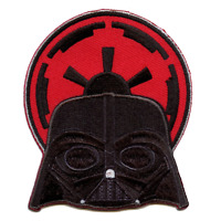 Official Star Wars POP Darth Vader Embroidered Iron On Patch