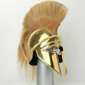 Medieval Wearable Greek Corinthian Helmet Free Leather Liner Knight Spartan Helm
