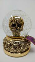 NEW Rare Gold color Skull Water-Globe  Halloween Decoration Skulls-Skeletons NWT