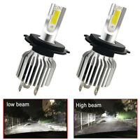 2Pcs 9003 H4 LED Headlights Bulbs Kit Upgrade High&Low Beam 80W 13200LM White wf