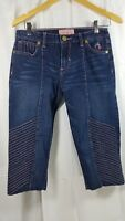 Baby Phat Jeans Juniors Womens Size 9 Cropped Pants Pink Stitching **ALTERED**