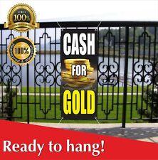 Cash For Gold Banner Vinyl Mesh Banner Sign Pawn Loan Cashing In Money Silver