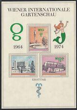 Österreich 1964/74 Gedenkblatt,,Wr.int.Gartenschau,,siehe Bild >