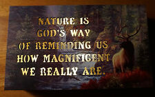 NATURE QUOTE Elk River Lighted Lodge Rustic Log Cabin Home Decor Light Sign NEW