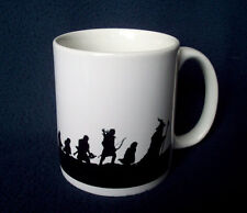 Tolkien Lord of the Rings Fellowship silhouette 10oz ceramic mug