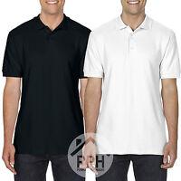 2 Pack Gildan Soft Style Mens White Black Polo Shirts Work wear Wholesale Top