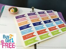 PP001-- Small College Flag Life Planner Stickers for Erin Condren (28 pcs)