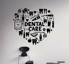 Dental Care Wall Decal Stomatology Vinyl Sticker Removable Home Art Decor 84nse