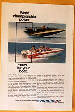 Vintage Magazine Print Ad 1971 125 HP Evinrude Starflite 125-S  Outboard Motor