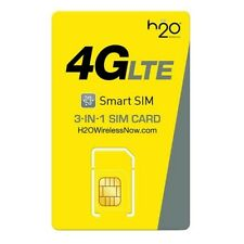 H2O Sim card 3 in 1preloaded Two Months free $30 Plan At&T network