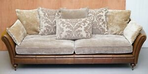 STUNNING TETRAD JULIE FEATHER FILLED BACK CUSHION FOUR SEATER SOFA