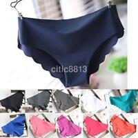 Women Seamless Invisible Lingerie Briefs Soft Cotton Spandex Underwear Panties