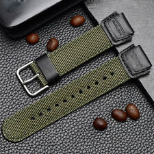 Rubber Nylon Watchband Fits For Casio AE-120WH SGW-300H SGW-400H Watch Strap