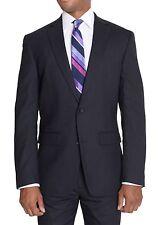 Bar III Slim Fit 42L Navy Pinstriped Wool Blend Suit Separate Jacket Blazer