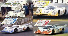 Calcas Porsche 917 LH Le Mans 1969 10 12 14 15 1:32 1:24 1:43 1:18 slot decals